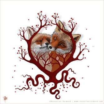digital painting Illustration digital painting Illustration Foxy Love
