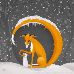 The Fox and her Snowfox