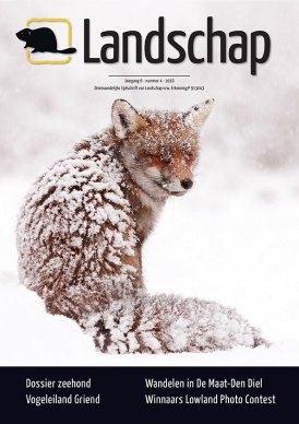 Cover Fox in the Snow Belgian Magazine Landscape VZW