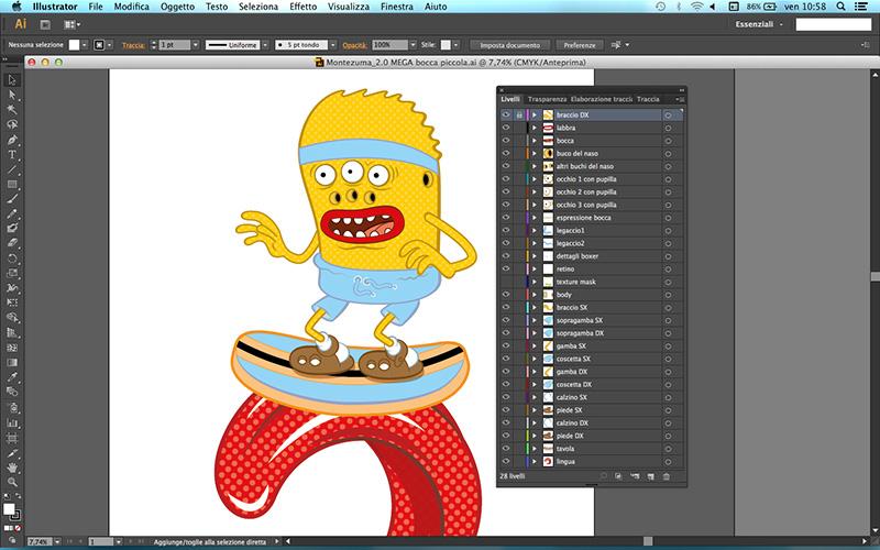 livelli di Illustrator