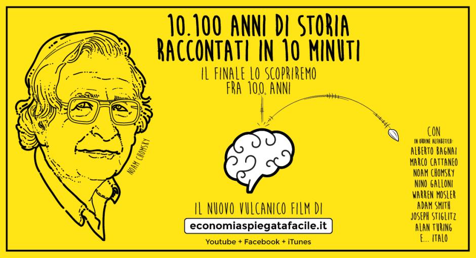 L'economia spiegata facile locandina 10.100 anni di economia raccontati in 10 minuti