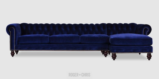 Blue Velvet Chesterfield Sofa Bed Nrtradiantcom : 239bluevelvetchesterfieldsectionalsofawithchaisezoom from nrtradiant.com size 618 x 309 jpeg 19kB