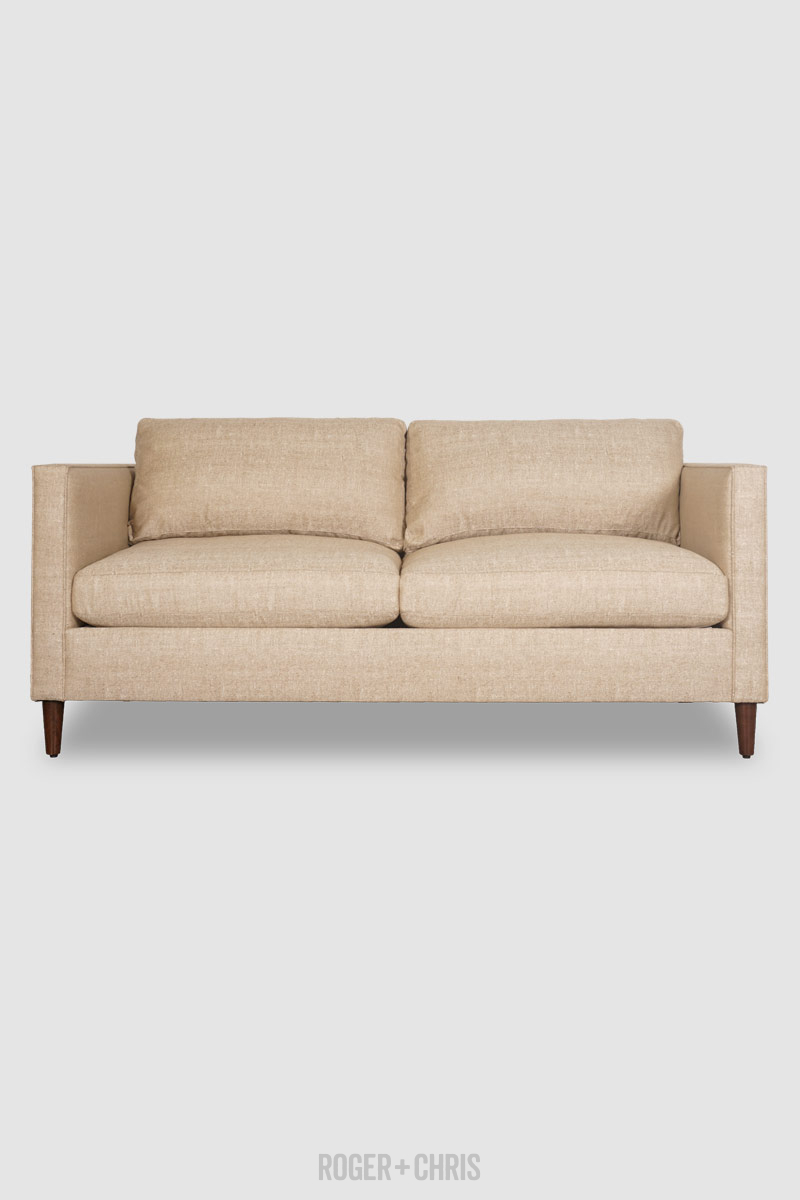 79 Natalie Sleeper Sofa In Chartres Hemp Stain Proof Fabric