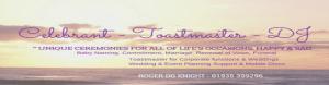 Celebrant - Toastmaster - DJ960x250 950x250 twitter