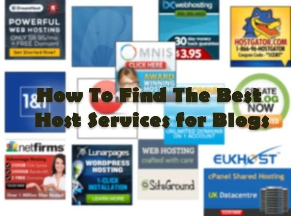 Host Services for Blogs