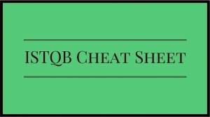 ISTQB Cheat Sheet