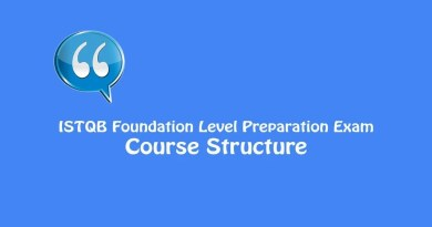 ISTQB Foundation Level Exam - Course Structure