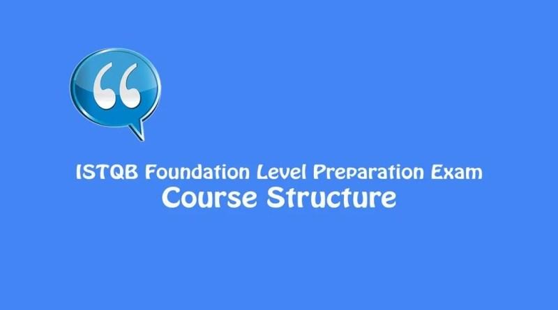 ISTQB Foundation Level Exam - Course Structure