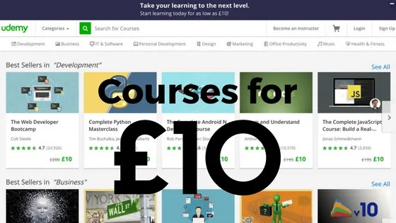 Courses for £10 Only