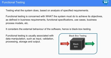 Functional Testing - Software Testing