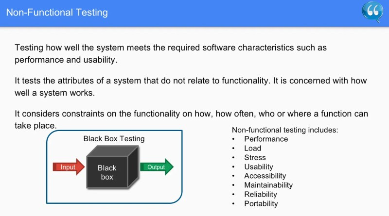 Non-functional testing - Software Testing