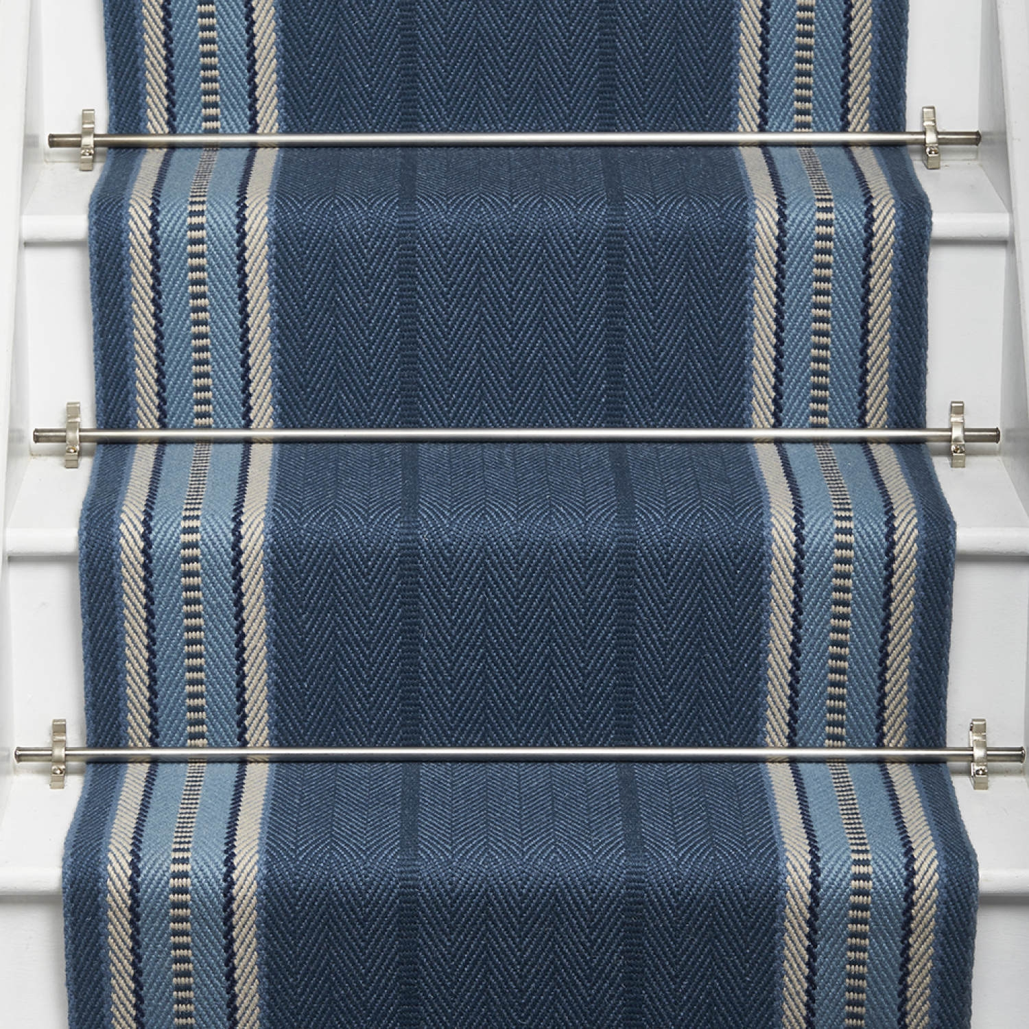 Products Runners For Stairs And Halls Blue Westport Indigo | Roger Oates Stair Runners | Middle | Hallway | Art Deco | Corner | Victorian