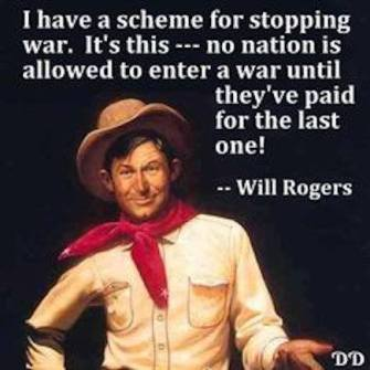 Will Rogers.war