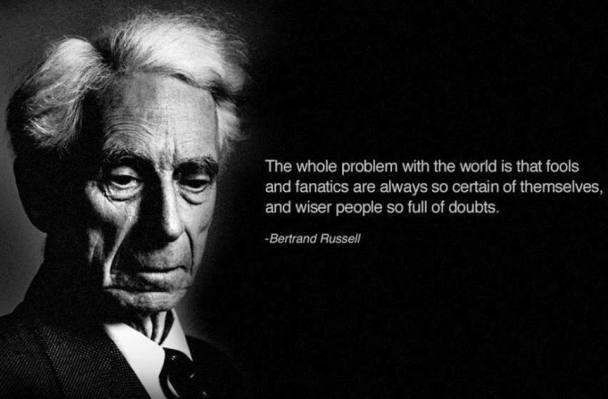Bertrand Russell Dunning Kruger effect