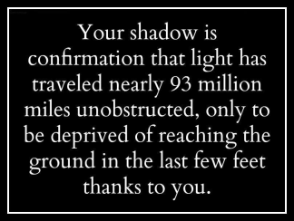 Your shadow
