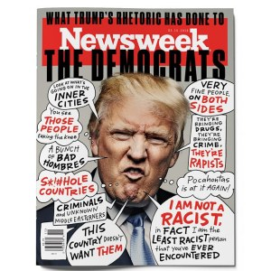 Trump.racist..Newsweek cover