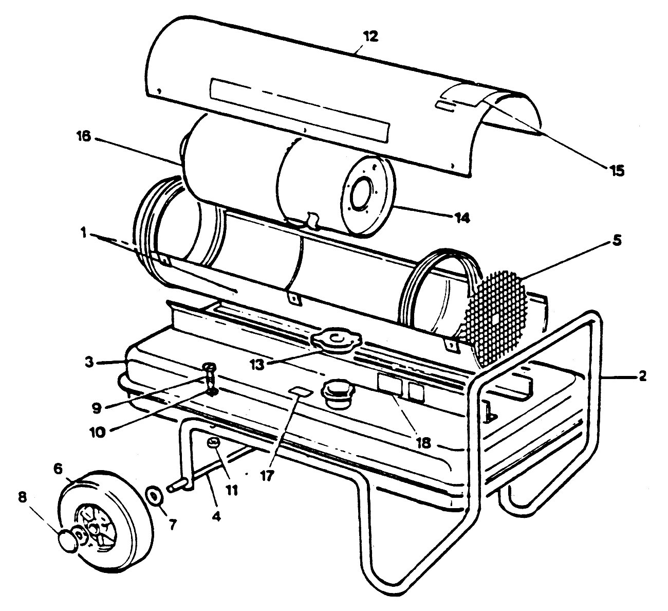 Jetaire D160 Exploded View
