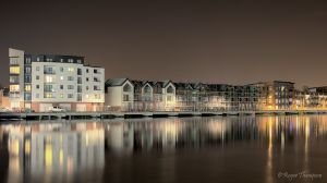 New housing on the river Usk Newport