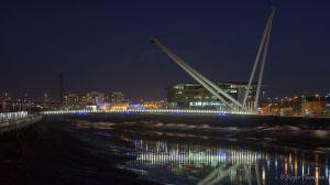 Newport foot bridge and University
