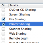 Sharing Mac Printer to Network