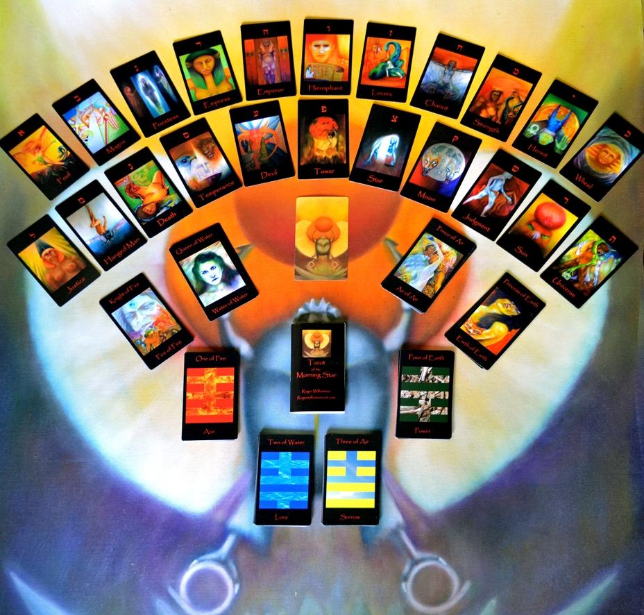 Tarot card deck Morning Star visual artist Roger Williamson-art