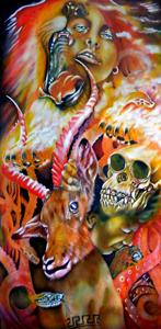 atavistic memories, recalling,transition,morphing,human,animal,Williamson artist