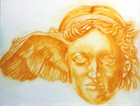 British museum, bronze statue,ancient greek god,sleep,dreams,morpheus,