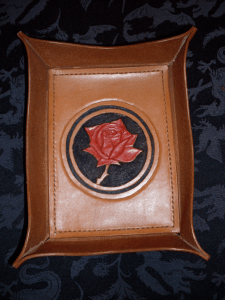Rose-themed valet tray