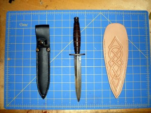 Knife and scabbard