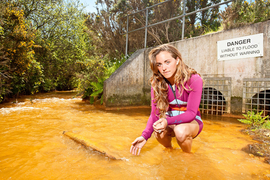 Rogue Mag Surf SAS sewage outlet surf girl