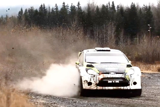 Rogue Mag Motorsport and Video - Ken Block tests the H.F.H.V. Ford Fiesta on gravel for the first time in Twin Peaks territory