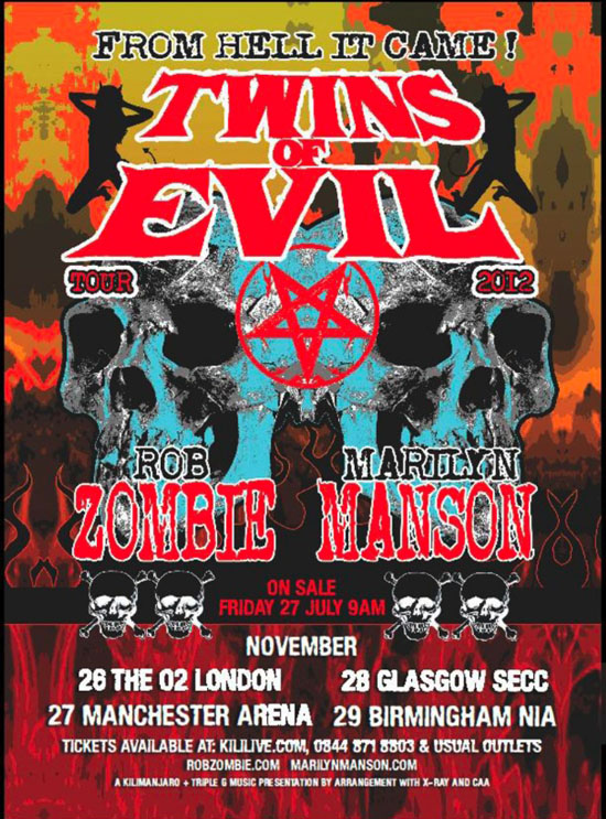 "Rogue Mag Music - Rob Zombie and Marilyn Manson bring ""Twins of Evil"" tour to the UK"