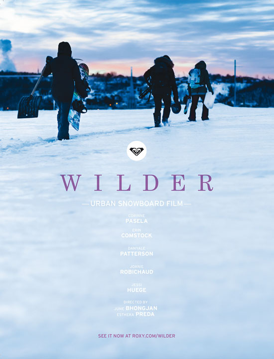 Rogue Mag Snow - Roxy release teaser for snow film WILDER