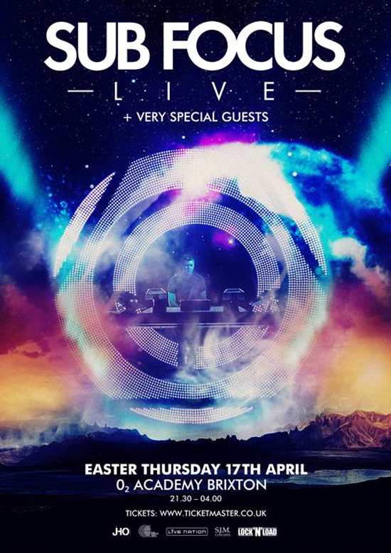 Rogue Mag Music - Sub Focus - Live show at Brixton Academy - 17th April