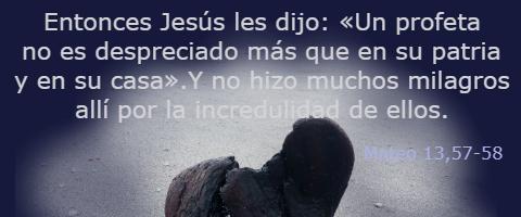 no hizo muchos milagros allí – Mateo 13,54-58