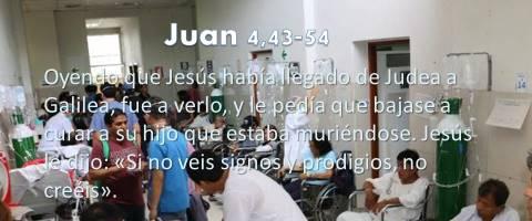 curar a su hijo – Juan 4,43-54