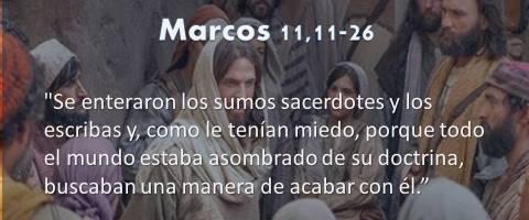 Marcos 11,11-26 – asombrado de su doctrina