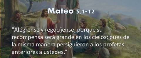Mateo 5,1-12 – Alégrense y regocíjense