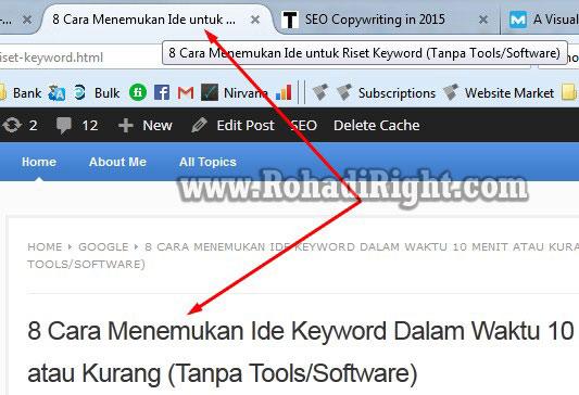 Title AIO SEO Pack untuk Search Engine vs Title Artikel untuk pengunjung