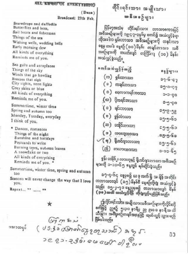 BBS (Burma Broadcasting Service) Rohingya Program Broadcasting