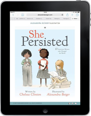 "Alexandra Boiger's new book, ""She Persisted"""