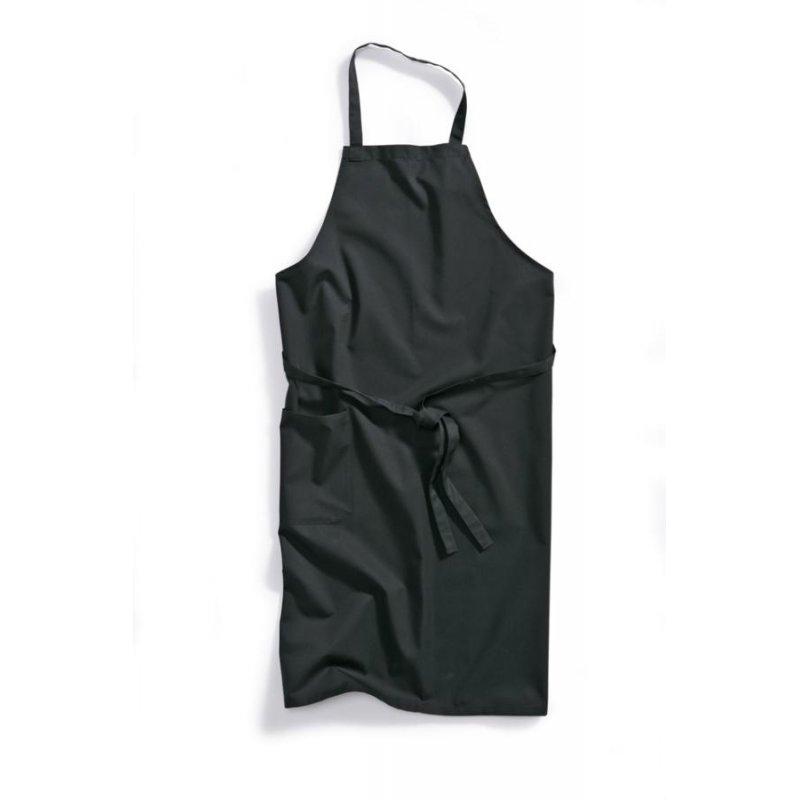 tablier de cuisine a bavette noir