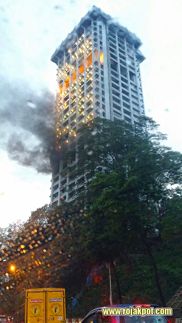 Bukit Aman on fire