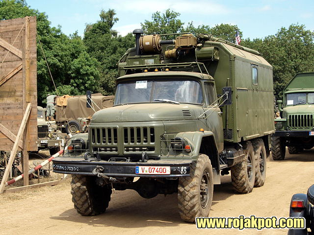 A Russian ZIL-131 Truck With A KUNG Command Post