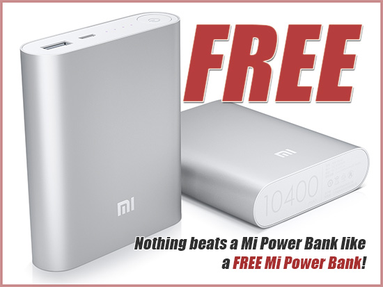 Two of these 10,400 mAh Mi Power Banks are up for grabs!