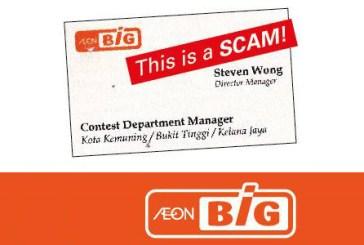 AEON BiG Fake Contest Scam
