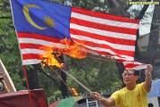 Bersih Falsely Accused Of Burning The Malaysian Flag