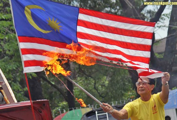 Bersih Falsely Accused Of Burning The Malaysian Flag