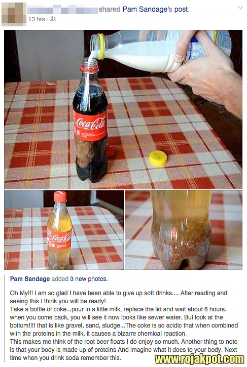 Adding Milk To Coca-Cola Creates Poison?
