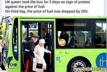 Queen Elizabeth Took A Bus For 2 Days To Protest Fuel Cost